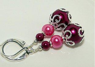 Náušnice - ZUZANA (ružovofialová) - 1410938