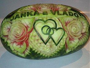 Dekorácie - Svadobný melón  - Janka&Vlado - 1415689