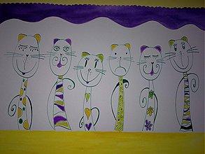 Kresby - cicušky -rodinka - 1417205