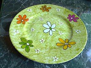 Nádoby - kvetinky na tanieriku - 1417225
