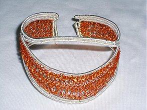 Náramky - oranžovo - strieborné - 1418314