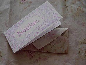 Papiernictvo - Mini blahoželanie s ornamentami+ obálka - 1418747