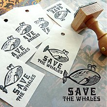 Drobnosti - Pečiatka: SAVE THE WHALES - 1419571