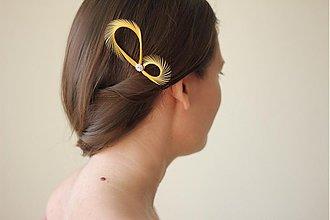 Ozdoby do vlasov - Vlasové ozdoby 2ks žlté - svadobné fascinátory - 1422383