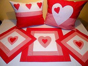 Úžitkový textil - srdiečková kolekcia - 1424200