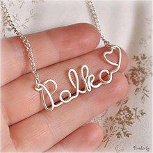 Náhrdelníky - Náhrdelník s menom z postriebreného drôtu: 6-8 písmen (Palko♥) - 1424636