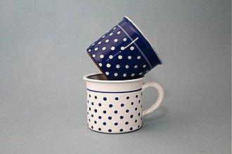Nádoby - Kafáč 8 cm puntík - modrý cca 0,3 l - 1425811