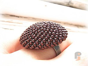Prstene - BUTTON_Dark Bronze - 1427969