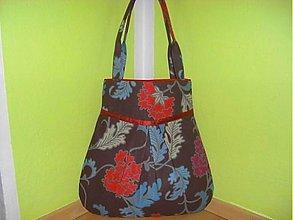 Veľké tašky - Kabelka,taška-veľké kvety so škoricovou - 1429638