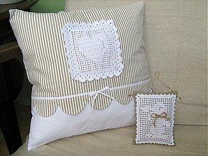 Úžitkový textil - S láskou - polštářek - 1441484
