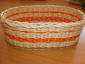 Košíky - Oválik pomarančový - 1444976