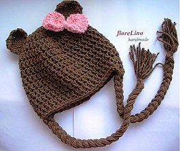 Detské čiapky - detská čipka - Macko Uško - 1446205