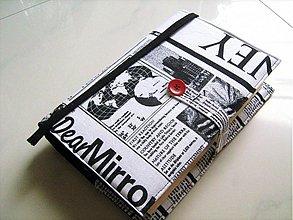 Iné - Číst knihu, nebo noviny ? obal na knihu, nebo diář - 1447566