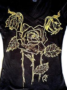 Tričká - Golden roses - 1447568
