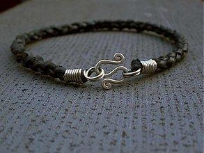 Šperky - kožený čierny - 1455043