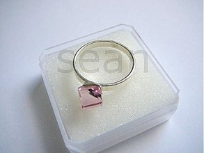 Prstene - Light Rose 6 mm - rôzne veľkosti - 145511