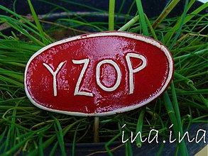 Dekorácie - Keramický zápich Yzop - posledné ks - 1460042