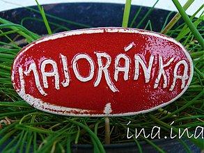 Dekorácie - Keramický zápich Majoránka - posledné ks - 1460052