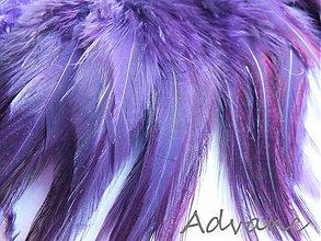 Suroviny - Kohútie jednofarebné fialová tmavá R11 - 1467477