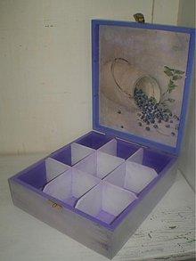 Pomôcky - čajová skrinka  9 priečinková čučoriedky...... - 1470620