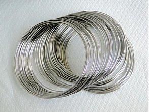 Suroviny - Pamäťový drôt-platina-100 ot. (50mm) - 1470952