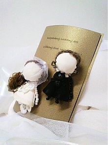 Papiernictvo - svadobné brošne MARRIed a blahoželanie /krémová/ - 1472046