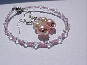 Sady šperkov - Romantická perleťová sada - 1475561