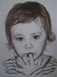 Kresby - malé dievčatko :-) - portrét A4 - 1475760