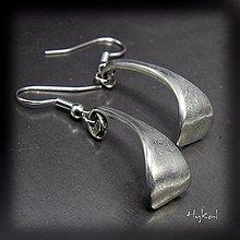 Náušnice - Kované damasteel naušnice - Meed - 1476199
