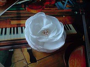 Odznaky/Brošne - biela kráska... - 1477160