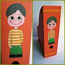 Krabičky - zakladač na kresbičky, farebné papiere... - 1480453