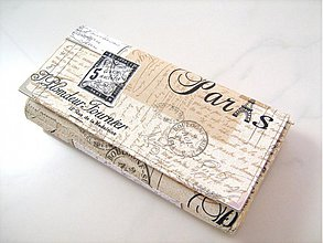Peňaženky - Paříž - velká elegantní peněženka - 1480659