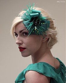 Ozdoby do vlasov - Zelená kvetina by Hogo Fogo - 1481318