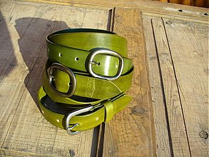 Opasky - handmade-KERTAG® kožený opasek COLOR - 1483025