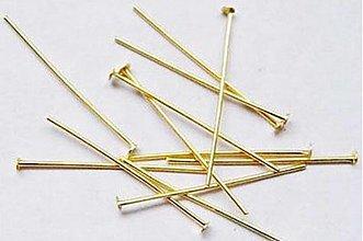 Komponenty - Nit zlatý 4cm / 30ks - 1485216
