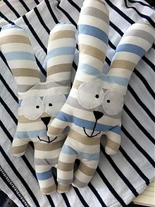 Hračky - Veselý zajko modrý - 1486185