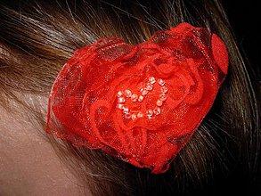 Ozdoby do vlasov - Srdiečková sponečka - 1486497