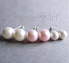 Náušnice - Swarovski perly v striebre - 1486620