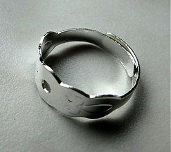 Komponenty - Základ na prsteň-postrieb-1ks - 1486691