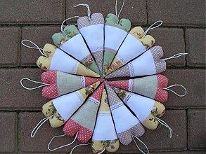 Úžitkový textil - Starofialové srdiečko - 1493757