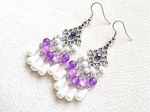 Náušnice - nežná fialka - 1494684