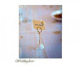 Darčeky pre svadobčanov - Stojanček na menovky - zlatý - 1497608