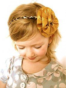 Ozdoby do vlasov - Celenka so zlatym kvietkom - 1497691