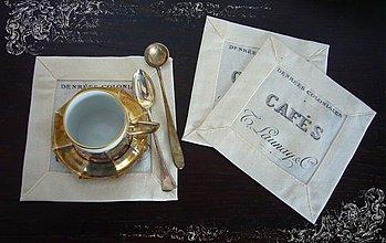 Úžitkový textil - prestieranicko Cafe - 1501371