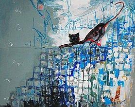 Obrazy - Kočka v meste - 1518704