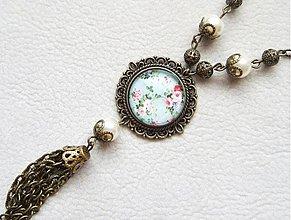 Náhrdelníky - vintage kvietky - 1519057
