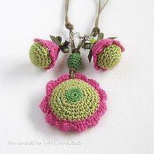 Sady šperkov - Ružičkové hippies - 1519427
