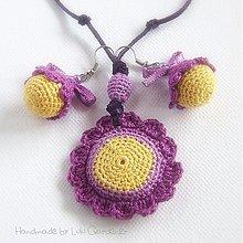 Sady šperkov - Fialkové hippies - 1519465