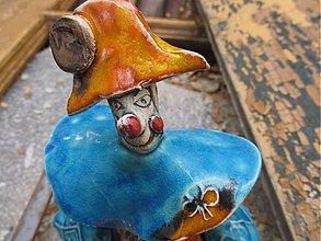 Dekorácie - klaun oranžovo modrý - 1519654