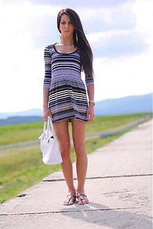 Šaty - Volné šaty__čierno-žltý_PÁSIK_!_ - 1521718